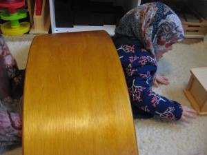 My little gypsy crawling under it.