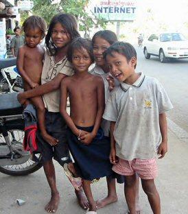 Street children.